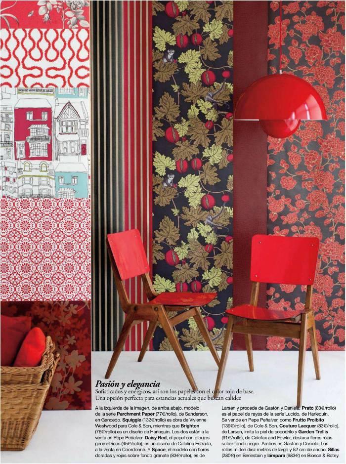 Hogares frescos el papel pintado universo decorativo de flores rayas motivos geom tricos y - Papel pintado paisajes ...