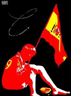 Cartoon crise Espanha, Espanha, Euro, França, Crise, Miséria