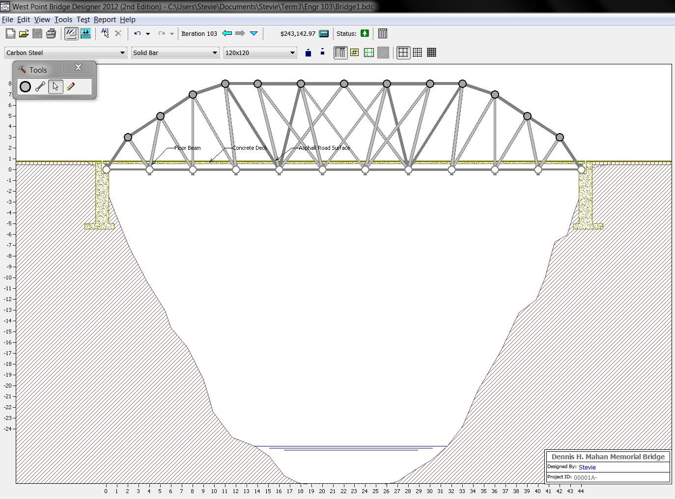 Group 14 bridge design april 2012 for Bridge design