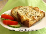 Zapekaný chlieb s nivou - recept