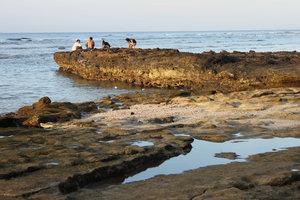 The rocks in Câu cave area, Lý Sơn island