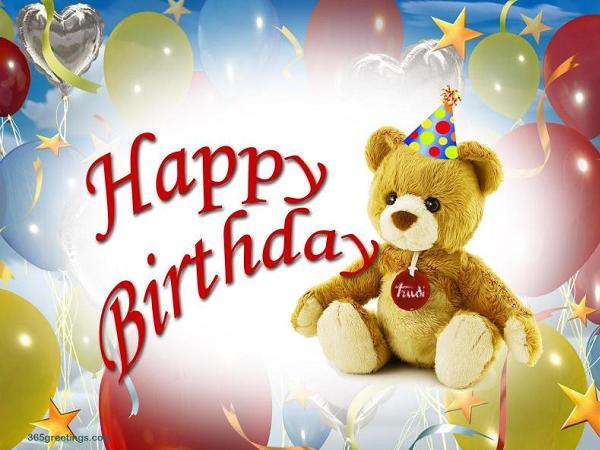 Teddy bear Happy Birthday
