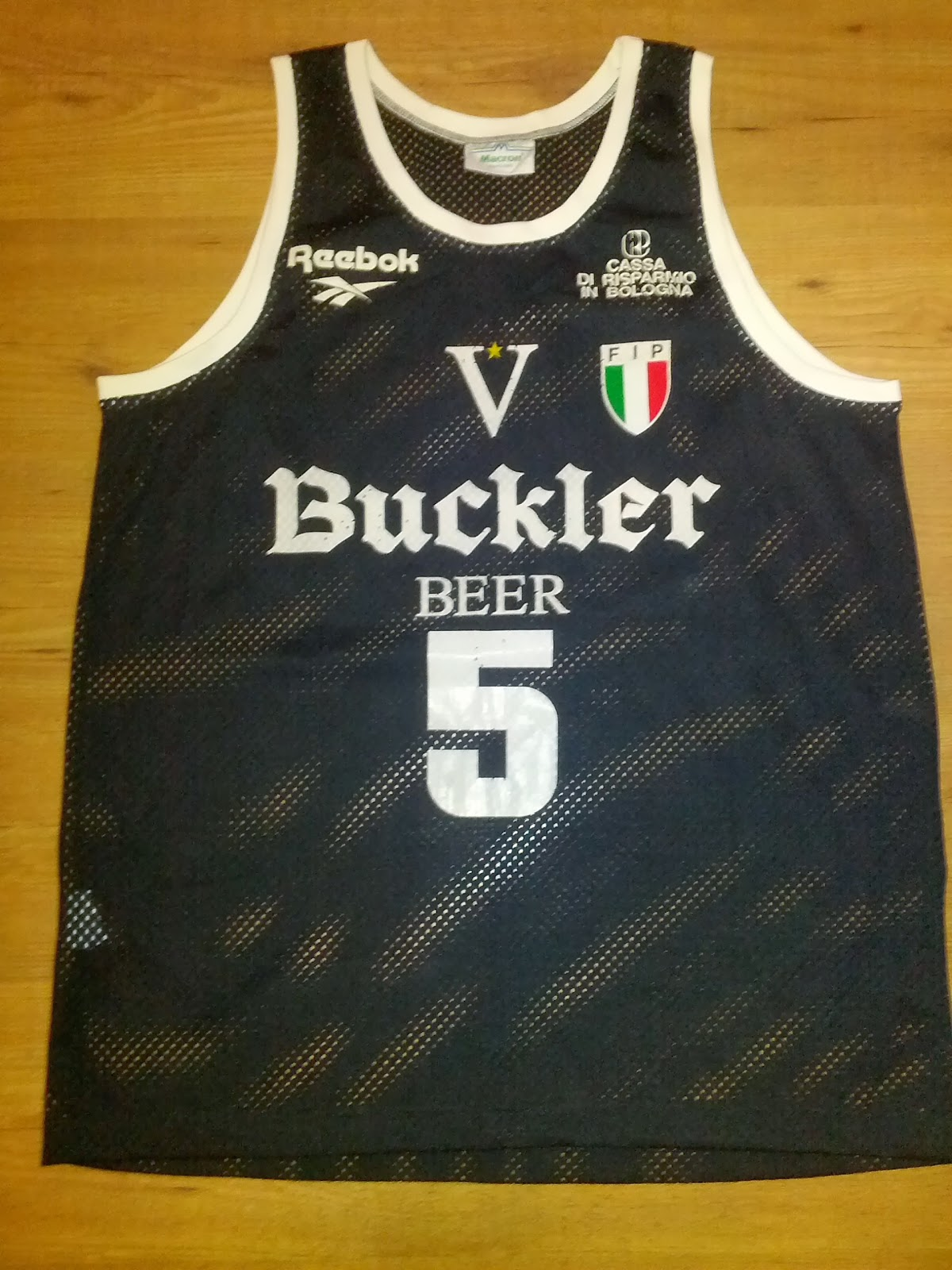Canotta Danilovic Virtus Buckler Bologna Jersey Game Worn #5 1993-1994 Season