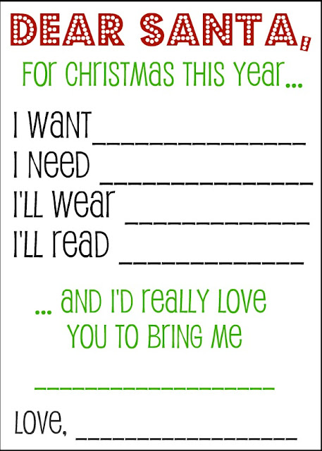 Dear Santa Printable Wish List - Savings Tips - SavingsMania