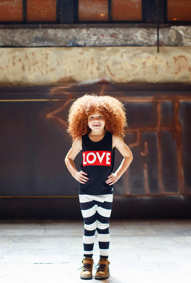 Quinn & Fox kidswear SS15 collection - love tank and striped pants