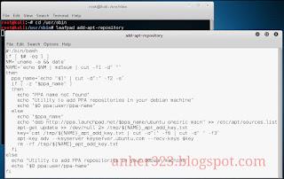 leafpad add-apt-repository