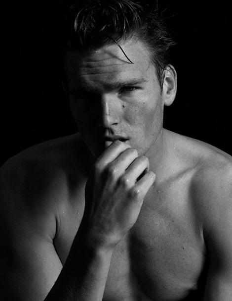 Ryan Mertz black and white portrait by Attilio D'Agostino