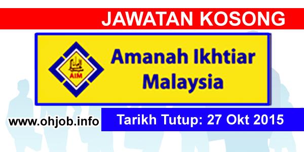 Jawatan Kerja Kosong Amanah Ikhtiar Malaysia logo www.ohjob.info oktober 2015