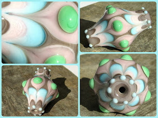 Gipsy - Glasperle - Lampwork bead - Cam boncuk