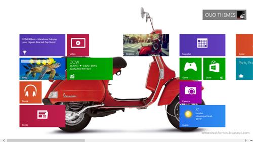 Tema Motor Vespa Untuk Windows 7 Dan 8