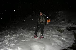 Aproximación a la cabana de Campcardós desde Porta con nieve.