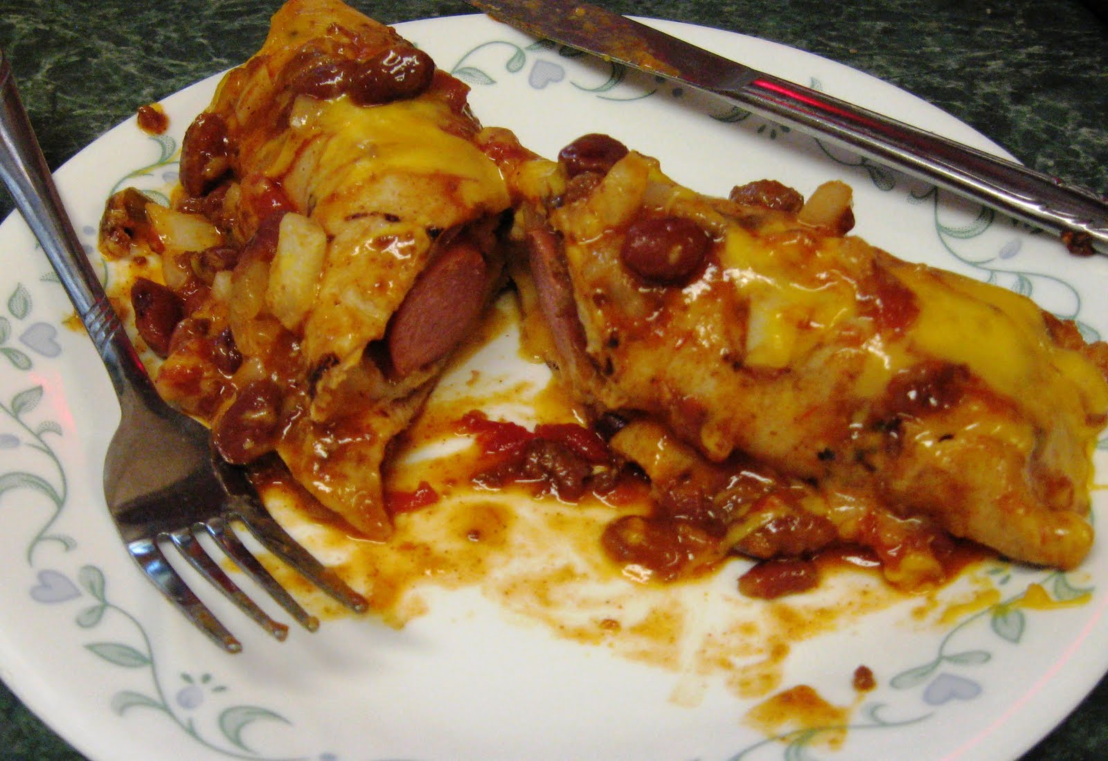 ... recipes later. But for now, I give you this. Chili Dog Casserole