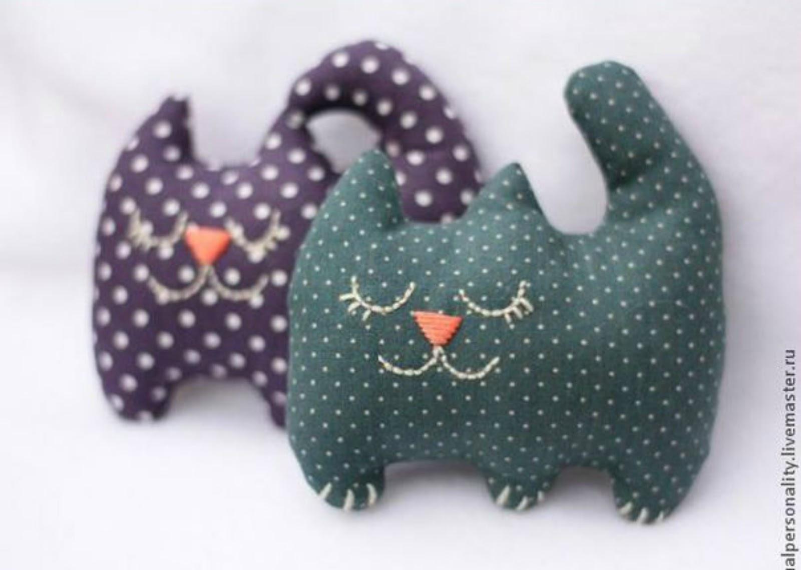 Idee Creative Cucito : Gatti di stoffa cucito creativo tutorial e cartamodelli