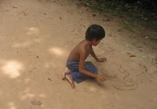 Angkor Wat Cambodian kid