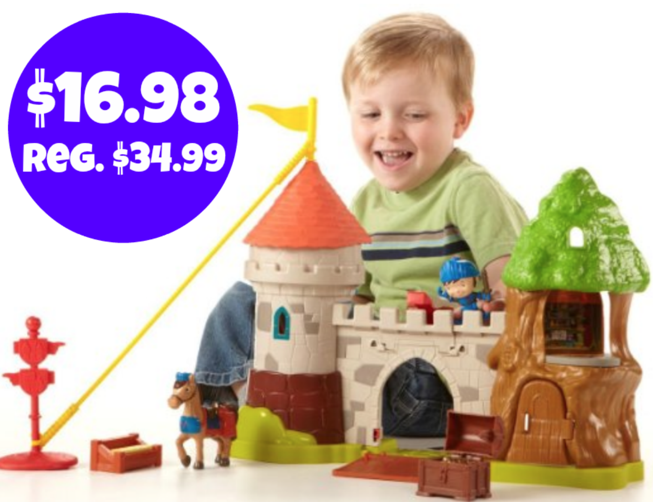 Amazon: Fisher-Price Mike The Knight: Glendragon Castle Playset (plays noises & sounds!) = $16.98! Regularly $34.99!