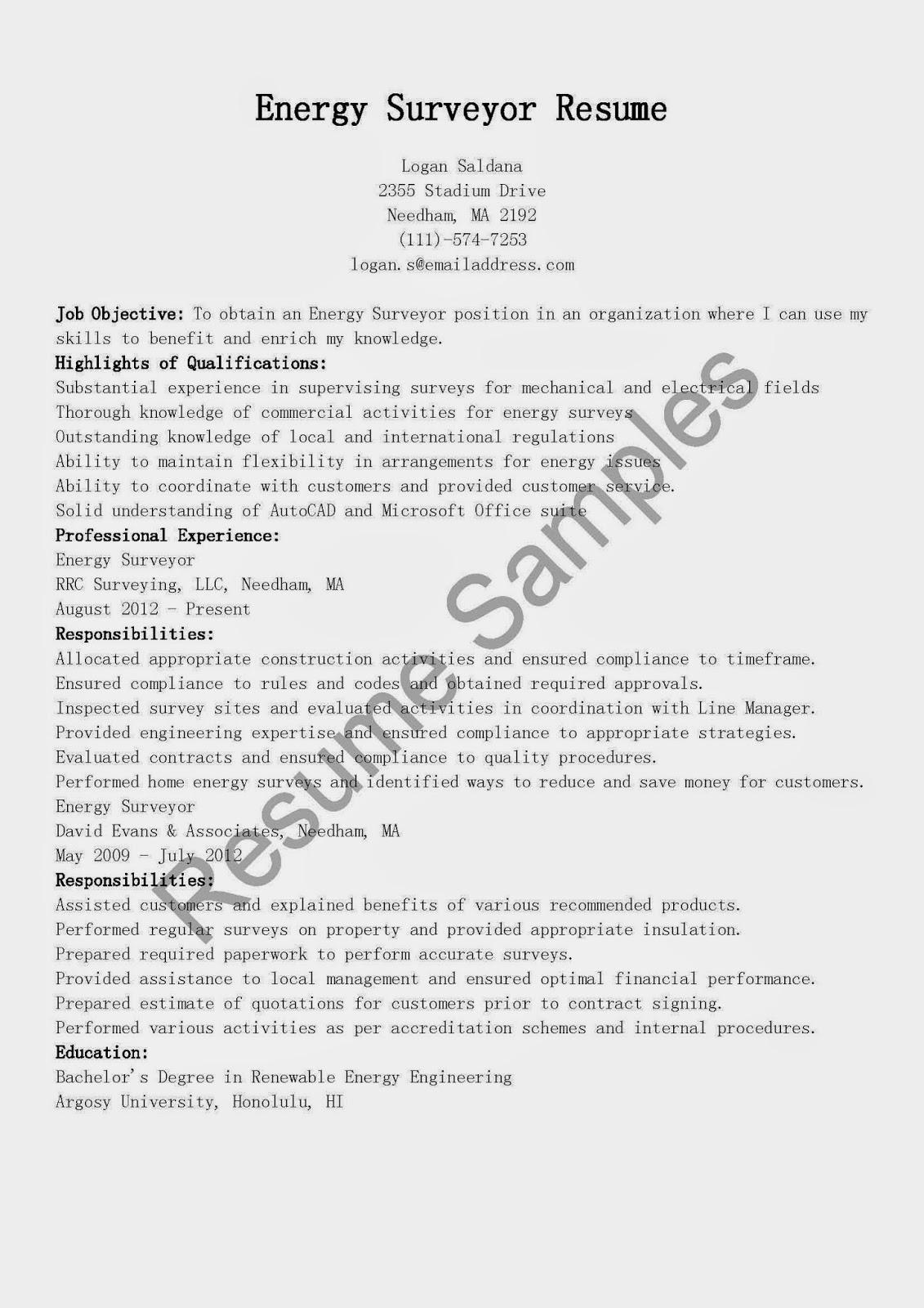 resume samples surveyor resumes house interior