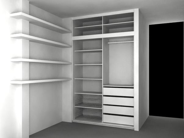 Interiores de placard en durlock for Interiores de placard