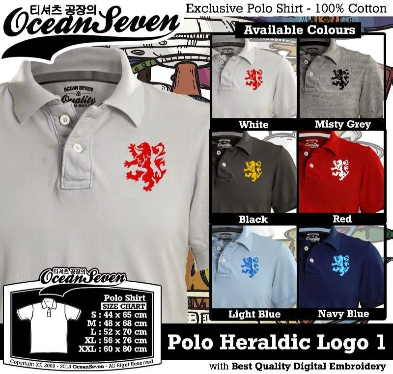 Kaos Polo Heraldic Logo 1