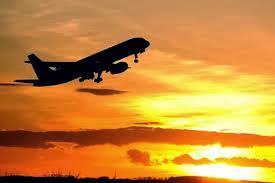 Plane leaving