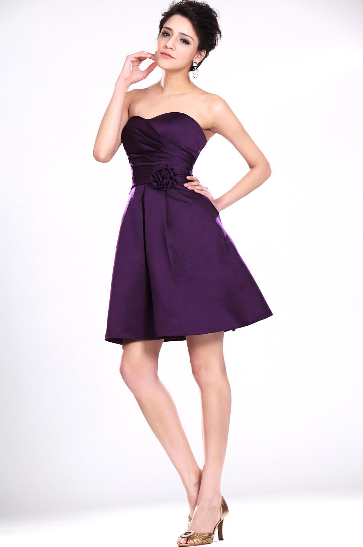 coiffurete dance robe de soir e violette courte. Black Bedroom Furniture Sets. Home Design Ideas