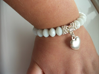 Ruby & Rose Jewellery, White Heart Jewellery, White Crystal Jewellery