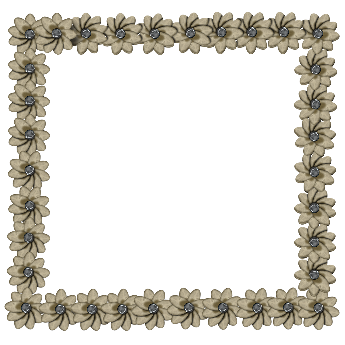 free digital scrapbook element newspaper flower frame