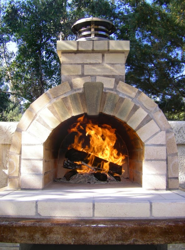 Schlentz Tan Wood Fired Brick Pizza Oven By BrickWood Ovens