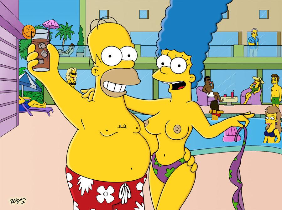 Homer ein Marge Simpson nackt