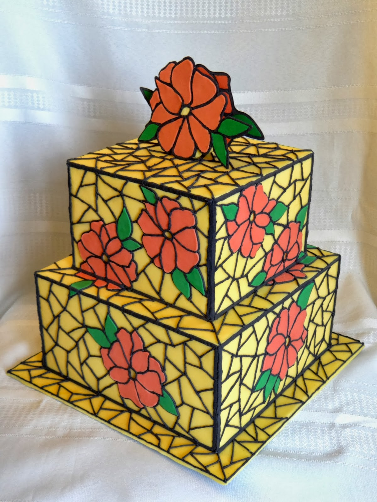 Tiers Of Joy Cakery Stained Glass Cake