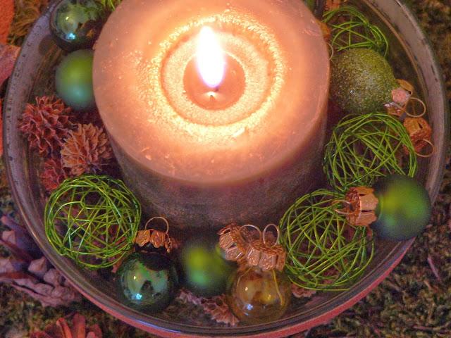 Weihnachten Deko Kerze