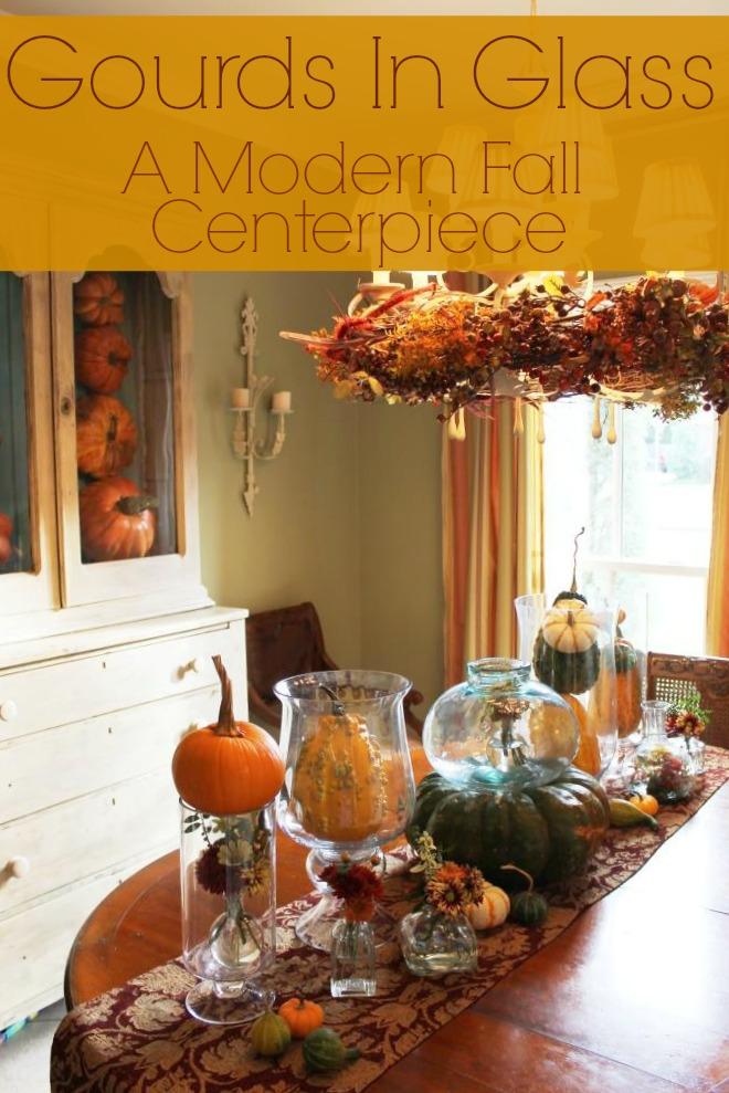 Miss kopy kat gourds in glass a modern fall centerpiece