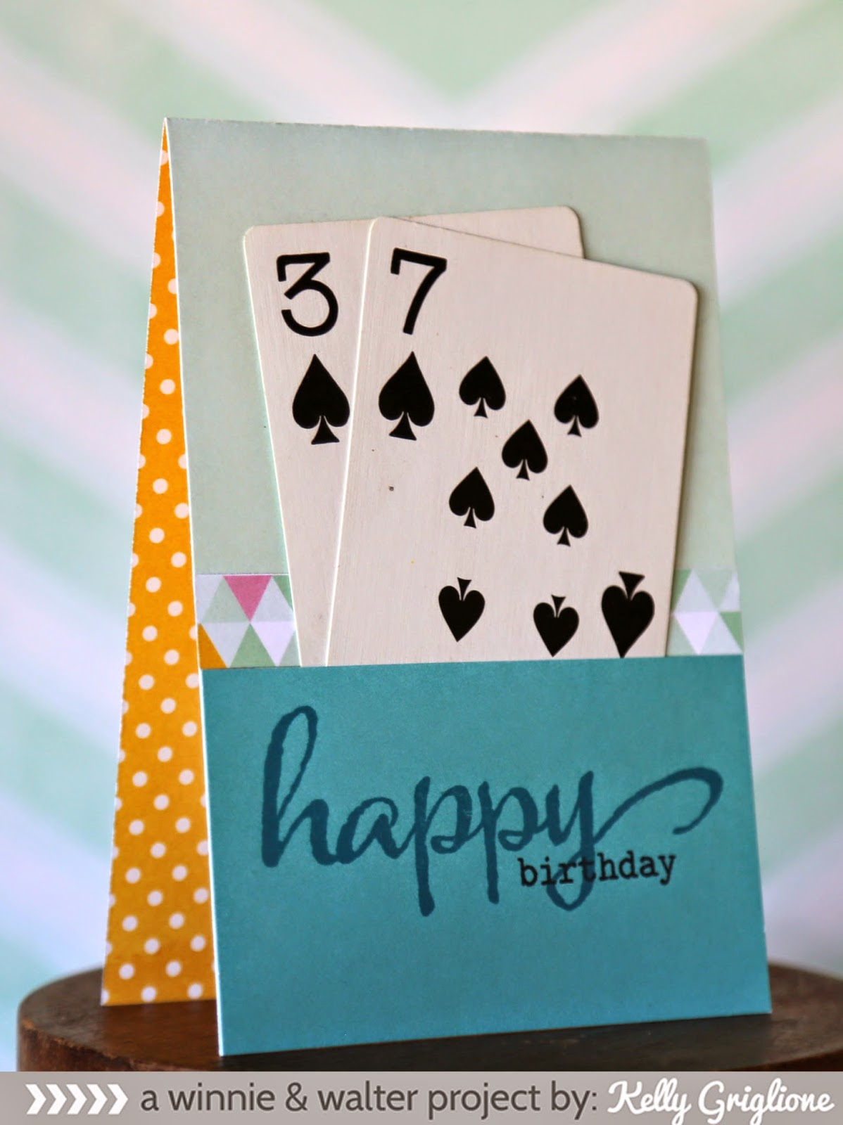 winnie walter blog Spades of Spring with Kelly – Poker Birthday Cards