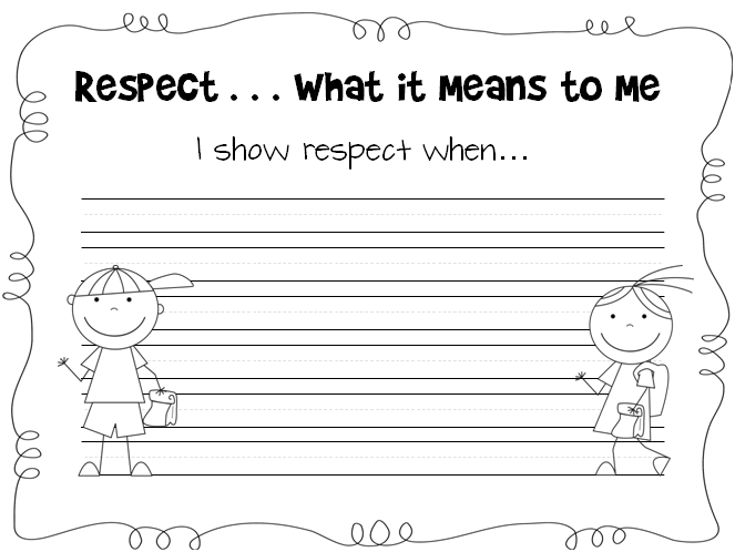 ... Respect Worksheets Along With Printable Respect Worksheets