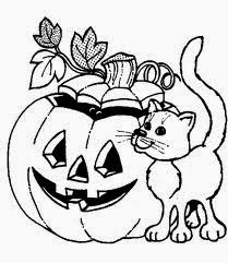 free halloween cat coloring pages for kids 1