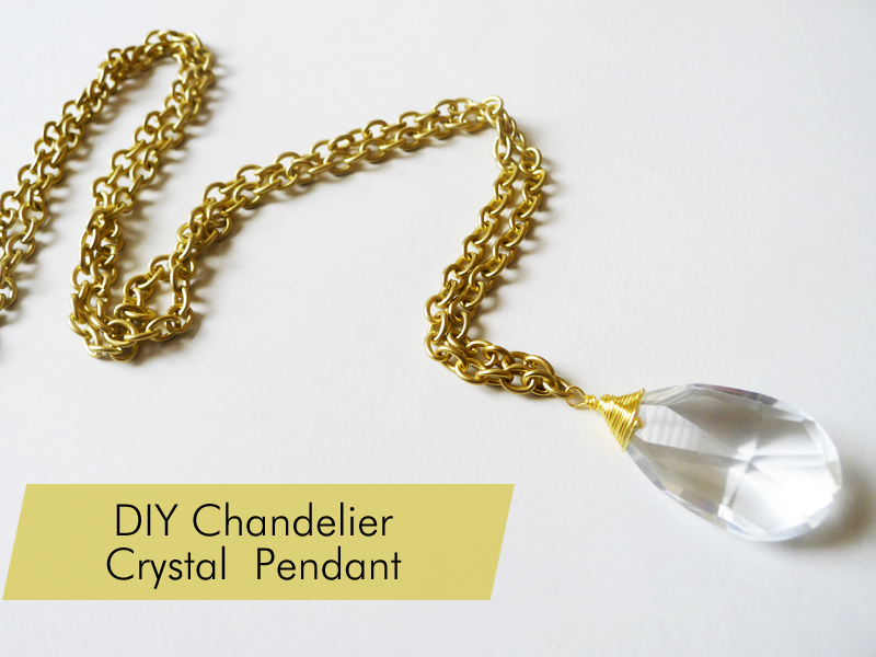 Thanks I Made It DIY Vintage Chandelier Crystal Necklace - Chandelier crystals diy