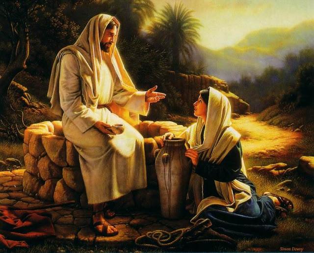 Jesus e a mulher samaritana no poço de Jacó