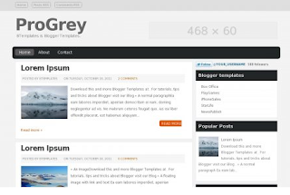 Pro Grey Free Premium Blogger Template