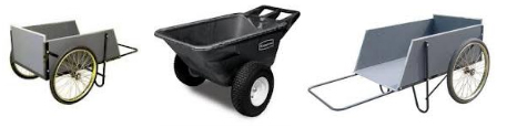 Two Wheeled Garden Cart Choose the Best 2 Wheel Cart for Your
