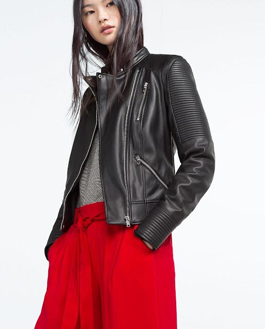 zara faux leather biker jacket, leather zip jacket,