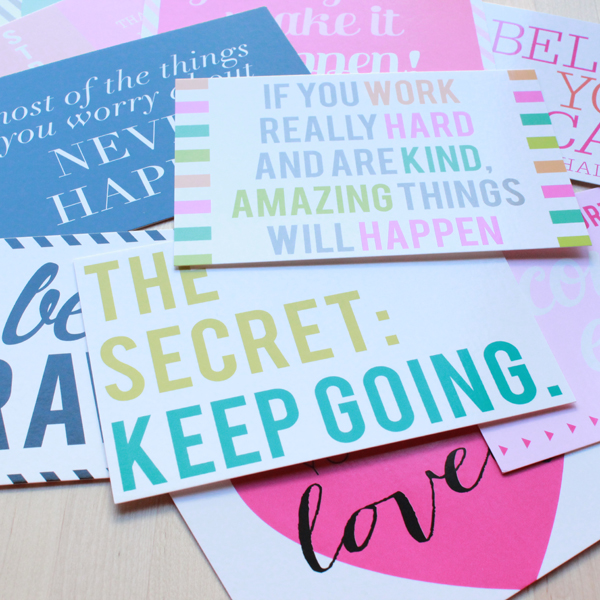 new in the shop: inspiring sentiments by charm & gumption (via Holly Would)