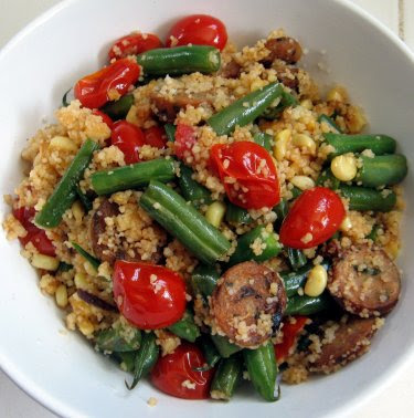 Couscous with chicken sausage and summer vegetables ~ Ham Pie ...