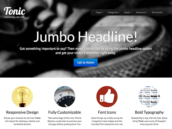 tonic free wordpress theme