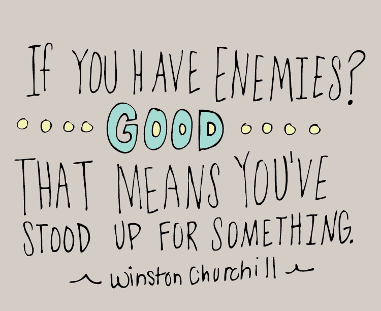 #handlettering #churchill #quote