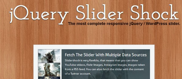 jQuery Slider shock responsive slider