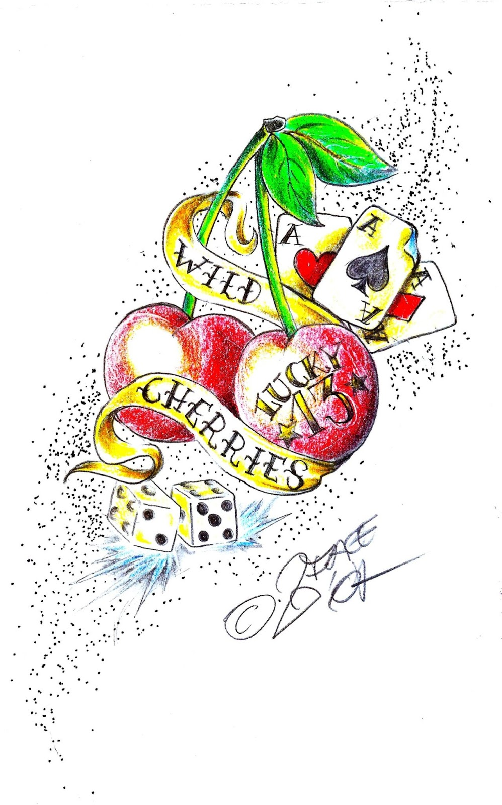 Wild cherry tattoo design tattoo lawas for Wild design