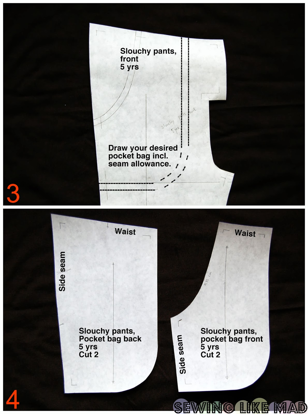 Sewing Like Mad Side Pocket Pattern Drafting And Sewing