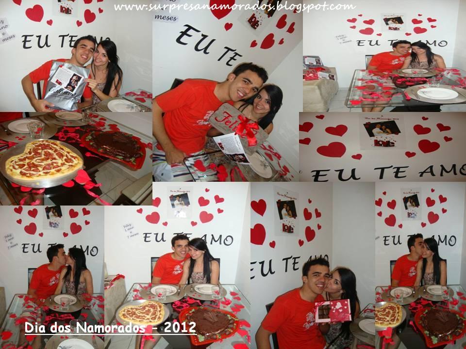 Dia dos namorados da Denise e do Felipe Pizza em Forma de