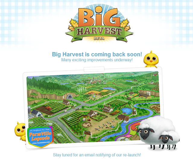 Zynga plans for Big Harvest Beta Version