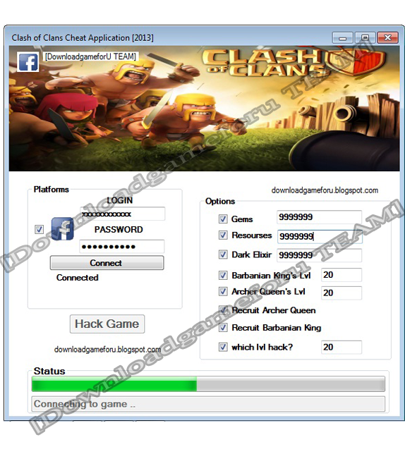 Clash of Clans Hack Cheat Application [2013] : Download Hack Cheat