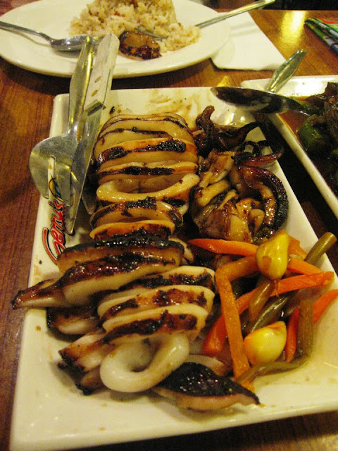 Inihaw na pusit at Gerry's Grill in Boracay Island